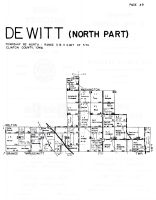 Dewitt Township - North, Clinton County 1960