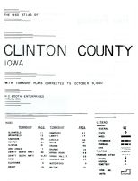 Title Page, Index, and Legend, Clinton County 1960