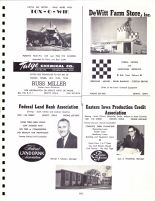 Ad - Tatge Chemical Co., DeWitt Farm Store, Federal Land Bank, Eastern Iowa Production Credit, Clinton County 1966