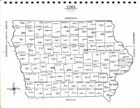 Iowa State Map, Clinton County 1966