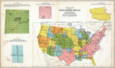 United States Map Principal Meridians And Base Lines Atlas - 1920 map of us