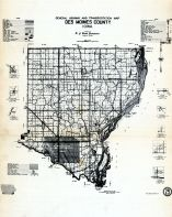 County Map - Highway and Transportation, Des Moines County 1949