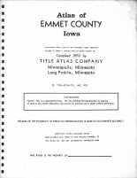 Title Page, Emmet County 1970