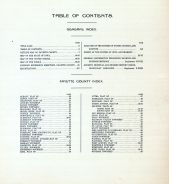 Table of Contents, Fayette County 1916