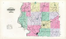 Outline Map, Fremont County 1891