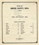 Table of Contents, Greene County 1909