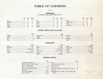 Table of Contents, Grundy County 1911