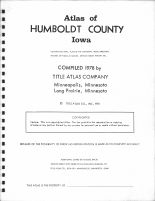Title Page, Humboldt County 1978