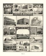 Cedar Rapids Industries, Krebs Bros. Co., Monuments and Statuary, Bealer Stone Quarry, Iowa State Atlas 1904