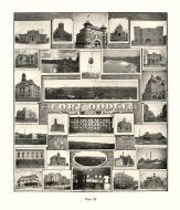 Fort Dodge, Public Library, Baptist Church, Post Office, Episcopal Church, Armory, High School, Tobin College, Iowa State Atlas 1904