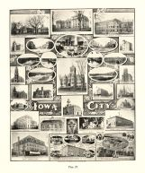 Iowa City, University Grounds, Liberal Art, Medical, St. Mary's Catholic School, Library and Historical Society, Terrel Dam, Iowa State Atlas 1904