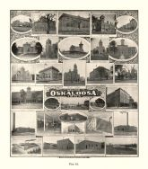 Oskaloosa, Hotel Lacey, Penn College, Corner's Market, Downing, Hanna Manufacturing, Kemble Flora Co., Sinclair, Iowa State Atlas 1904