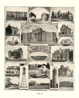 State College, Ames, Engineering Hall, Horticultural Lab., Margaret Hall, Chemical Building, New Central Building, Iowa State Atlas 1904