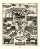 State College of Agriculture and the Mechanic Arts, Ames, Scenes on the College Farm, Iowa Publishing Co., Davenport, Iowa State Atlas 1904