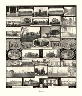 State Institutions, Soldiers Homes, Marshalltown, Penitentiary, Anamosa, College For The Blind, Soldiers Ophans Home, Iowa State Atlas 1904