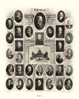 State Officers Executive Council, Greene, Mullan, Secy, Howard, Carroll, Cummings, Riggs, Gilbertson, Davison, Aldrich, Iowa State Atlas 1904