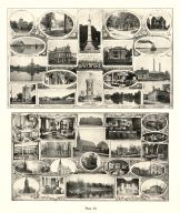 Views of Davenport, Lafayette Square, Industrial Home, River Scene, August Steffen Residence, Fairmount Cemetery, Iowa State Atlas 1904