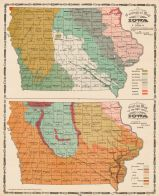 Geological Map and Outline Map of the Drift Sheets, Iowa State Atlas 1904