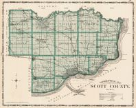 Scott County, Iowa State Atlas 1904