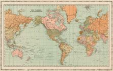 World Map, Iowa State Atlas 1904