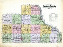 County Outline Map, Jackson County 1893