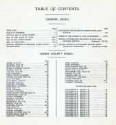 Table of Contents, Jones County 1915