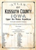 Title Page, Kossuth County 1913