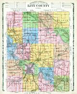 Linn County Topographical and Rural Route Map, Linn County 1907