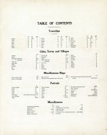Table of Contents, Linn County 1907