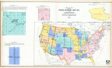 United State Map Principal Meridians and Base Lines, Linn County 1907