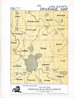 Linn County Drainage Map, Linn County 195x