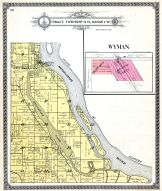 Wyman, Port Louisa, Muscatine Lake, Mississippi River, Louisa County 1917