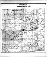 Outline Map, Madison County 1875
