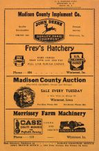 Back Cover, Madison County 1951 Farm Directory