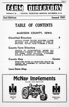 Farm Directory - Page 001, Madison County 1951 Farm Directory
