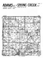 Adams Township - North,  Spring Creek Township - North,  Lacey, Mahaska County 1955