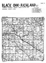 Black Oak Township, Rchland Township - South, Mahaska County 1955