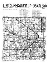 Lincoln, Garfield, Oskaloosa Township - West,  Evans, Mahaska County 1955