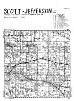 Scott Township, Jefferson Township - North, Olvet, Mahaska County 1955