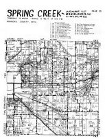 Spring Creek, Adams - South, Oskaloosa - East, Lincoln - East, Lake Keomah, Mahaska County 1955