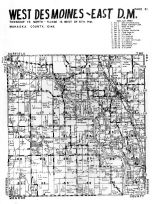 West Desmoines - East Township, Traux, Mahaska County 1955