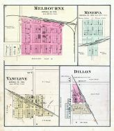 Melbourne, Minerva, Vancleve, Dillon, Marshall County 1885