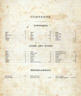Table of Contents, Marshall County 1885
