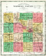 Topographical and Rural Route Map, Marshall County 1907
