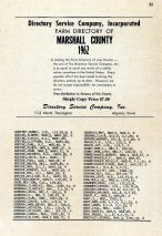 Title Page, Marshall County 1962