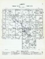 Liberty Township - Code Letter A, Little Cedar, Mitchell County 1960