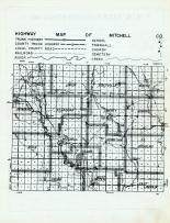Mitchell County Highway Map, Mitchell County 1960