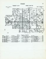 Osage Township - code Letter U, Code Letter W, Spring Creek, Sugar Creek, Cedar River, Mitchell County 1960