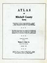 Title Page, Mitchell County 1960