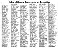 Index of County Landowners by Townships 1, Montgomery County 1949